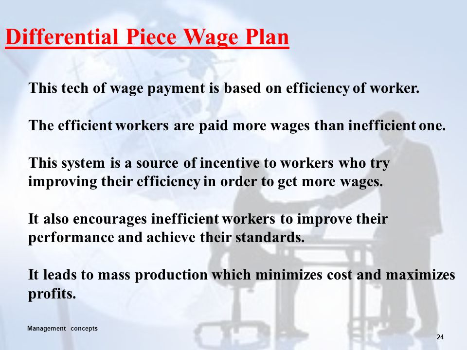 Differential Piece Wage Plan