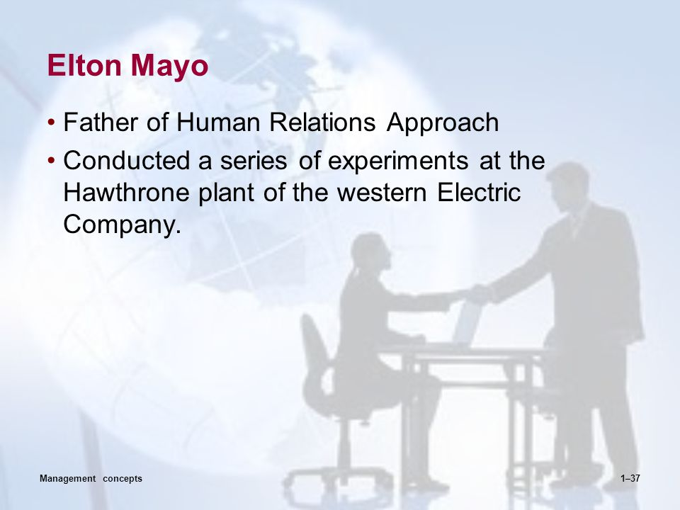 Elton Mayo Father of Human Relations Approach