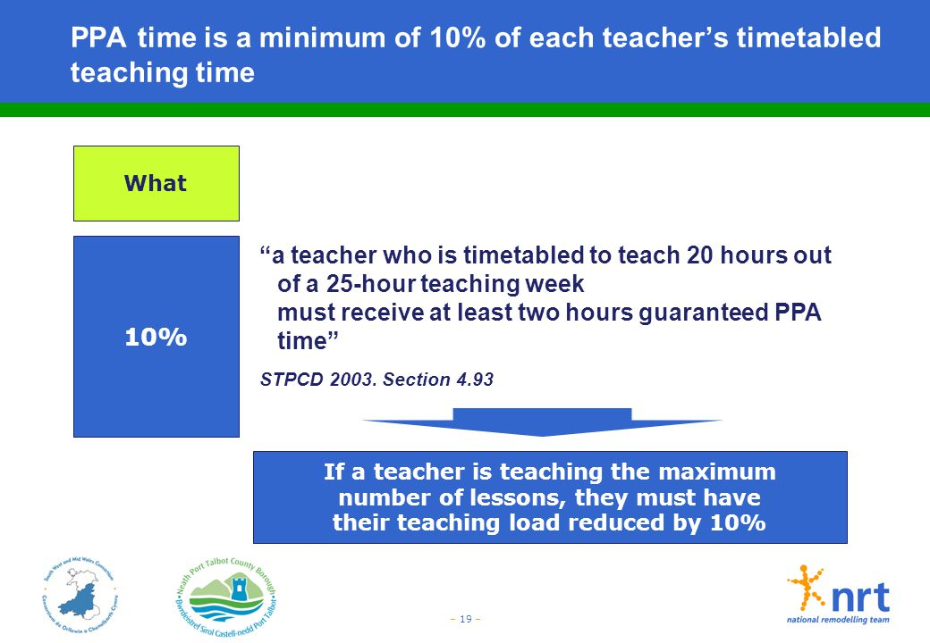 PPA time is a minimum of 10% of each teacher's timetabled teaching time