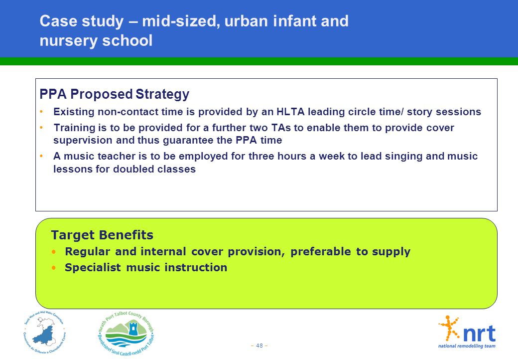 Case study – mid-sized, urban infant and nursery school