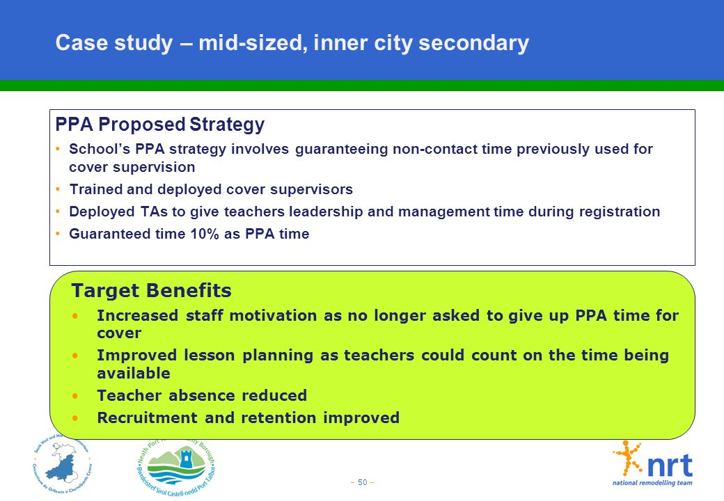 Case study – mid-sized, inner city secondary