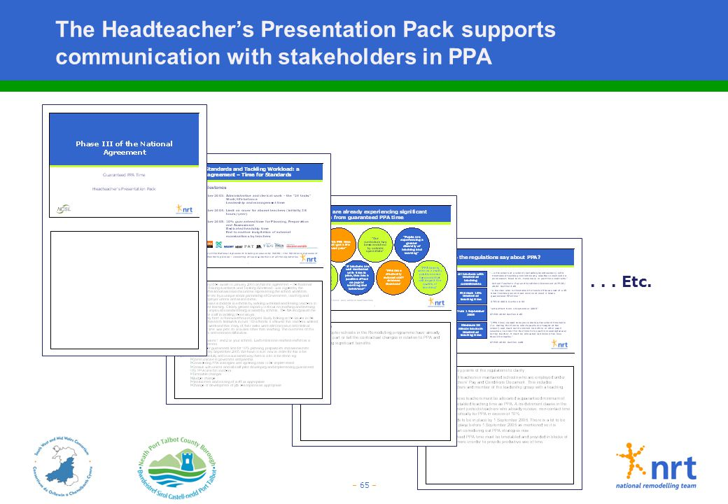 The Headteacher's Presentation Pack supports communication with stakeholders in PPA