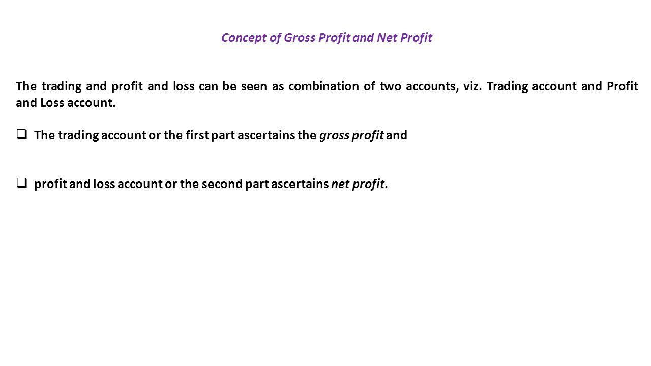 Concept of Gross Profit and Net Profit