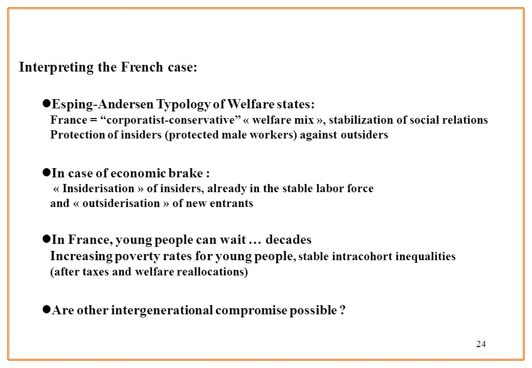 Interpreting the French case: