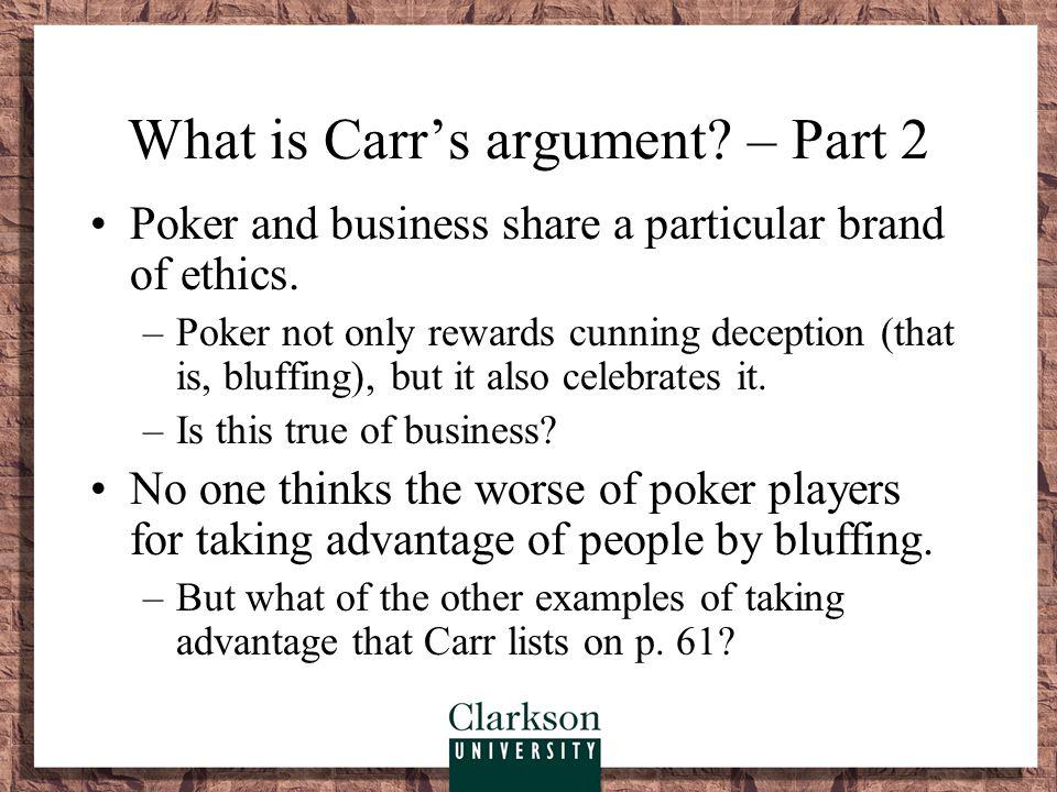 What is Carr's argument – Part 2