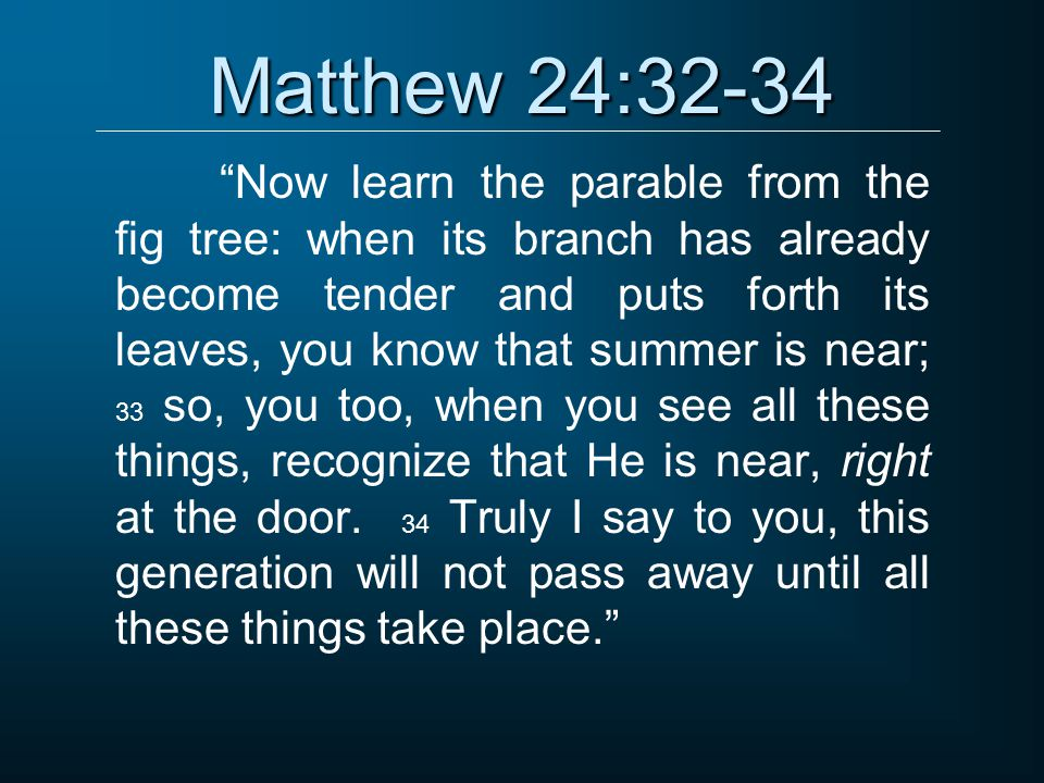 Matthew 24:32-34