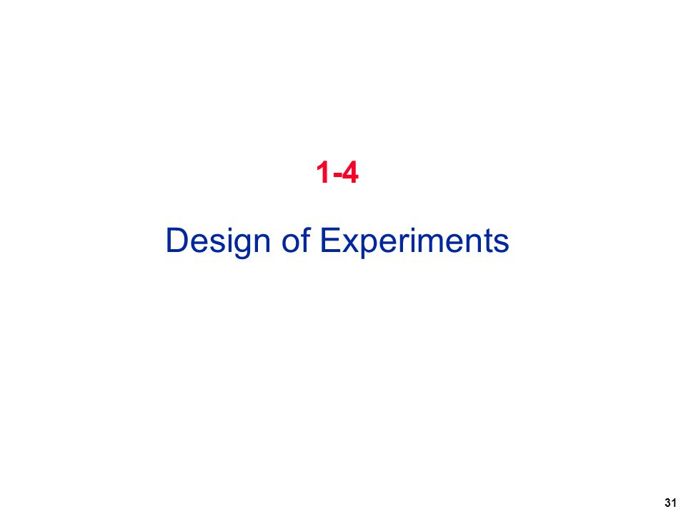 1-4 Design of Experiments