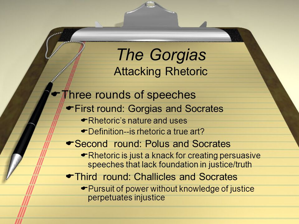 The Gorgias Attacking Rhetoric