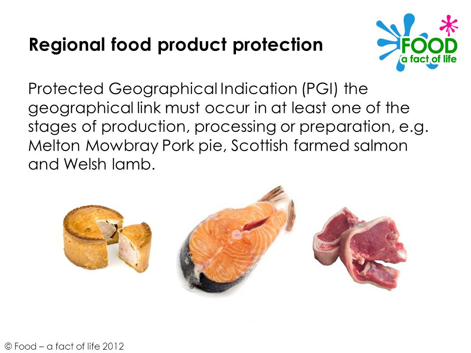 Regional food product protection