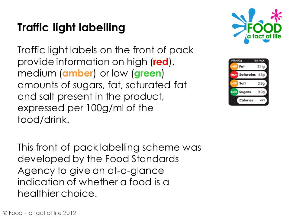 Traffic light labelling