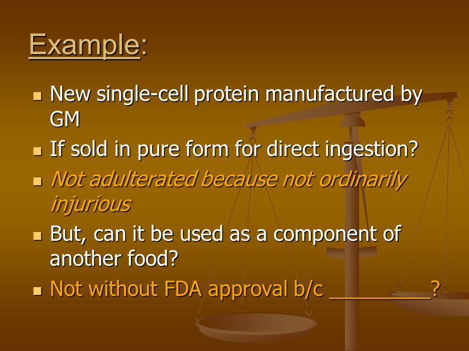 Example: New single-cell protein manufactured by GM