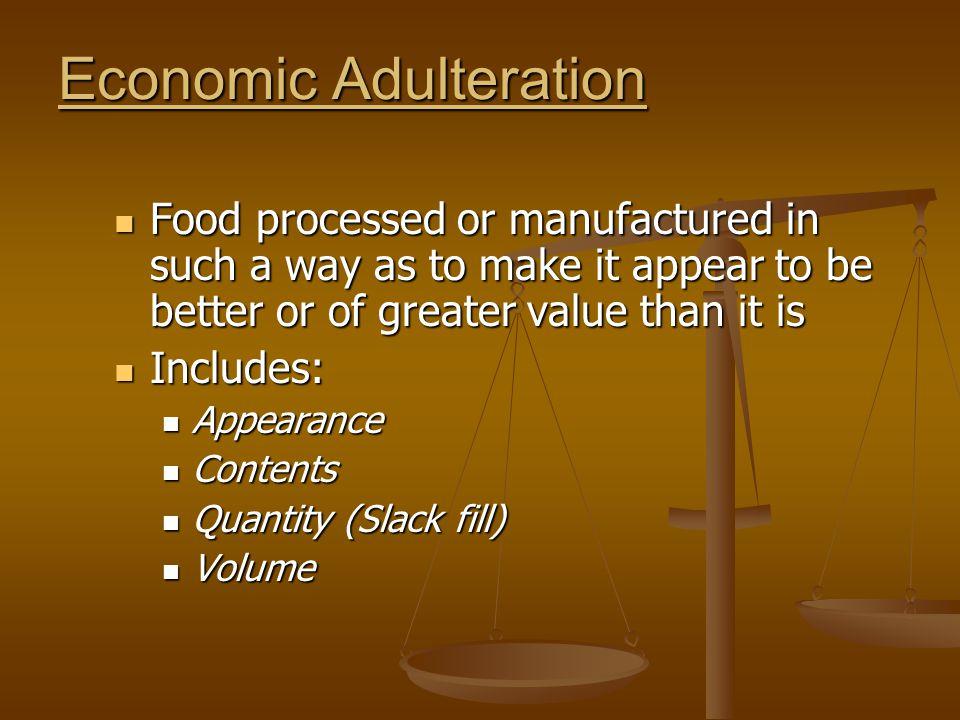 Economic Adulteration