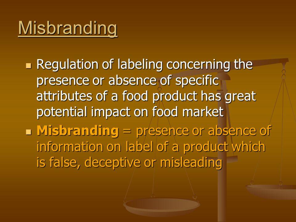 Misbranding