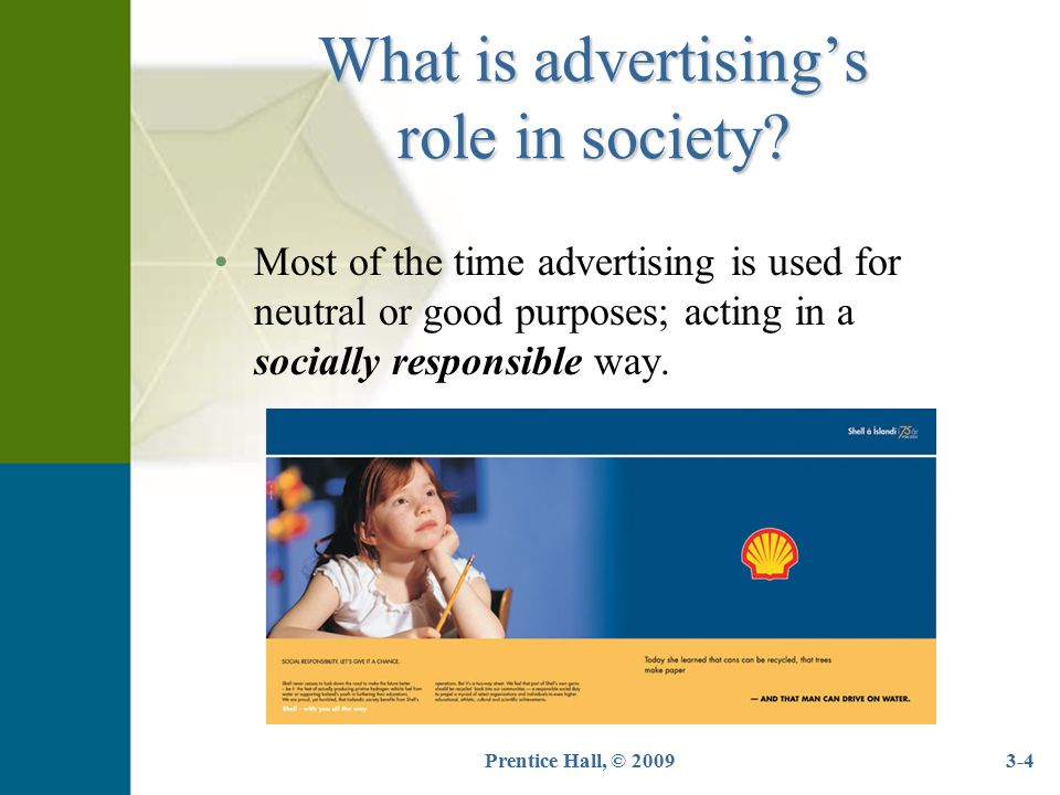 What is advertising's role in society