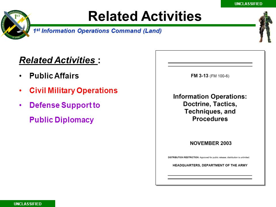 Related Activities Related Activities : Public Affairs