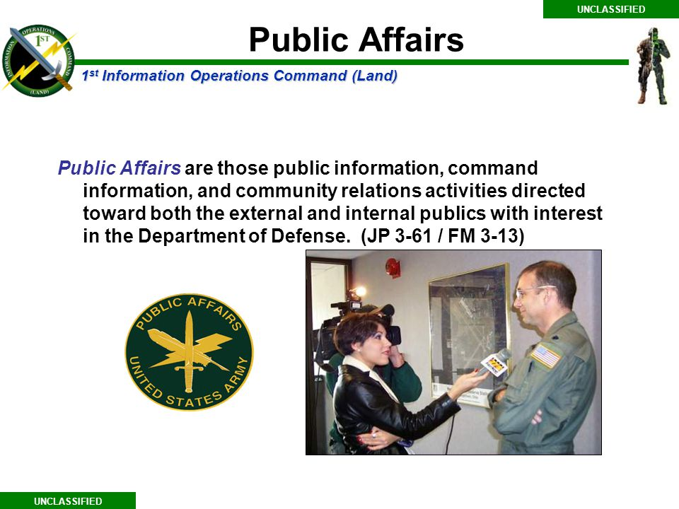 UNCLASSIFIED Public Affairs.