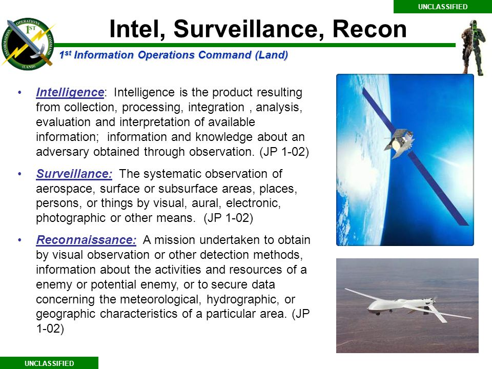 Intel, Surveillance, Recon