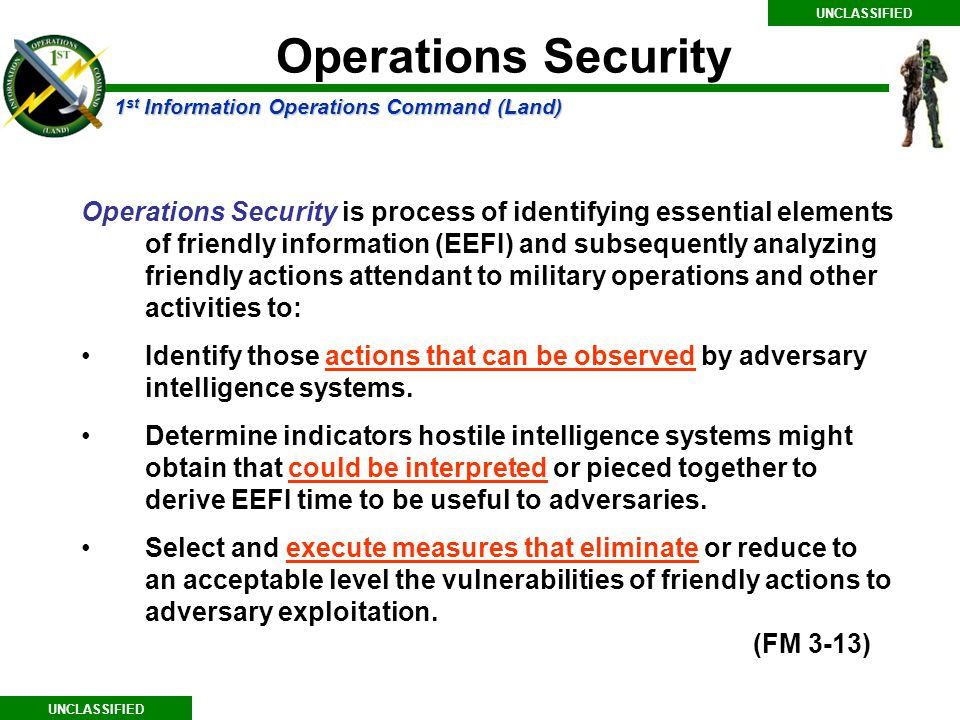 UNCLASSIFIED Operations Security.
