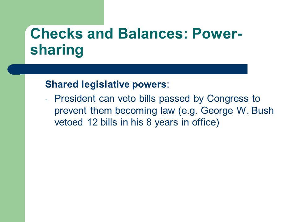 Checks and Balances: Power-sharing