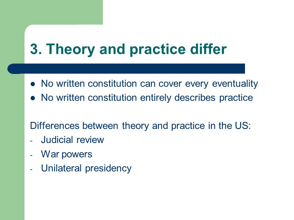 3. Theory and practice differ