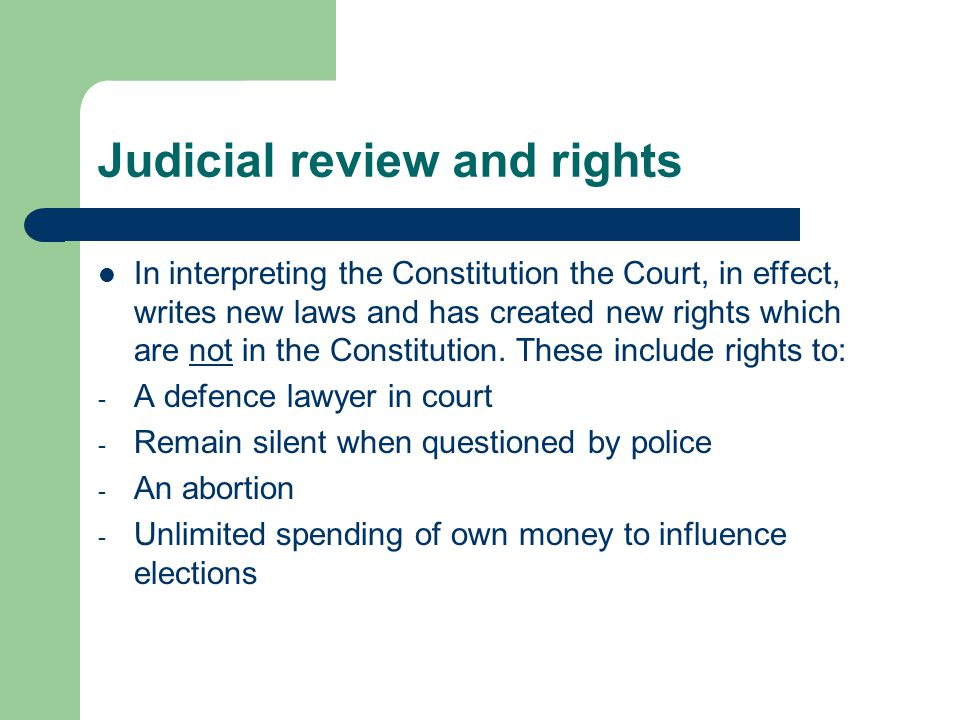 Judicial review and rights