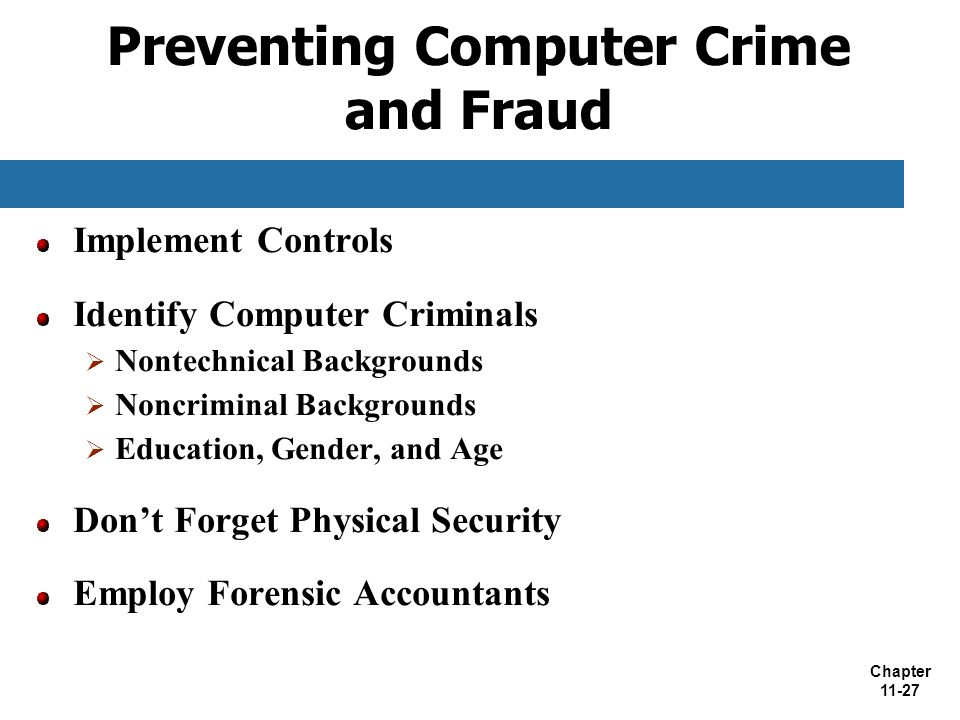 Preventing Computer Crime and Fraud