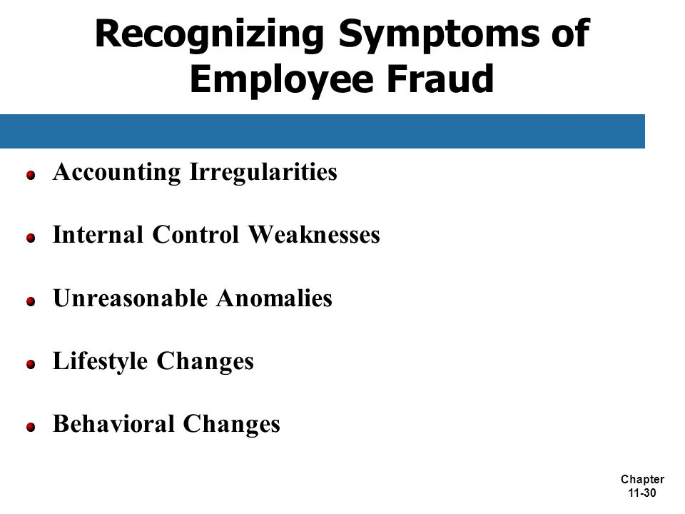 Recognizing Symptoms of Employee Fraud