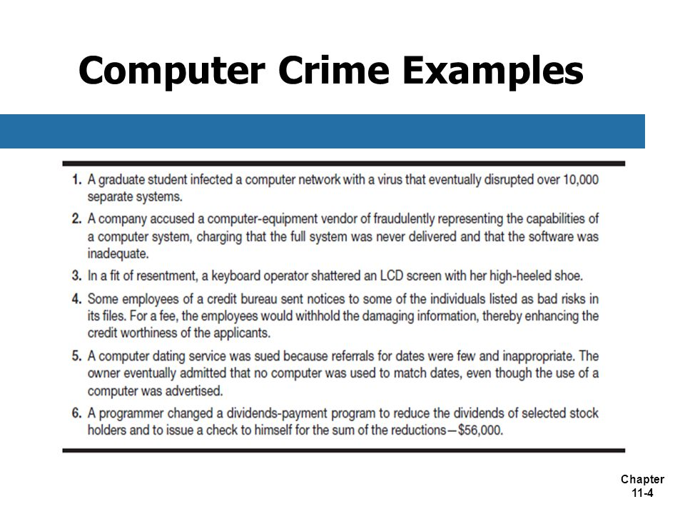 Computer Crime Examples