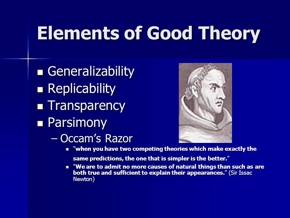 Elements of Good Theory