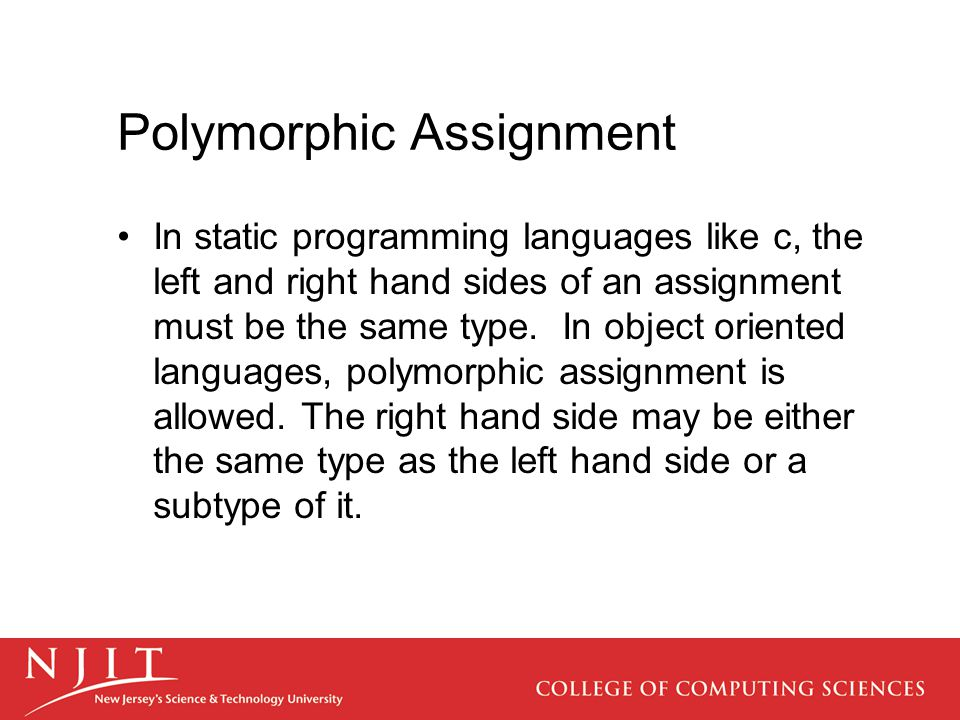 Polymorphic Assignment