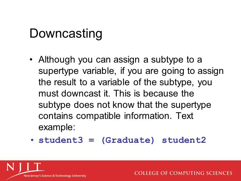 Downcasting
