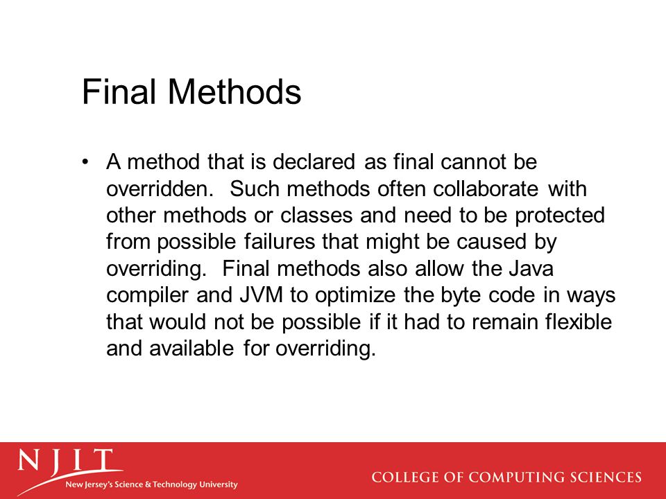 Final Methods