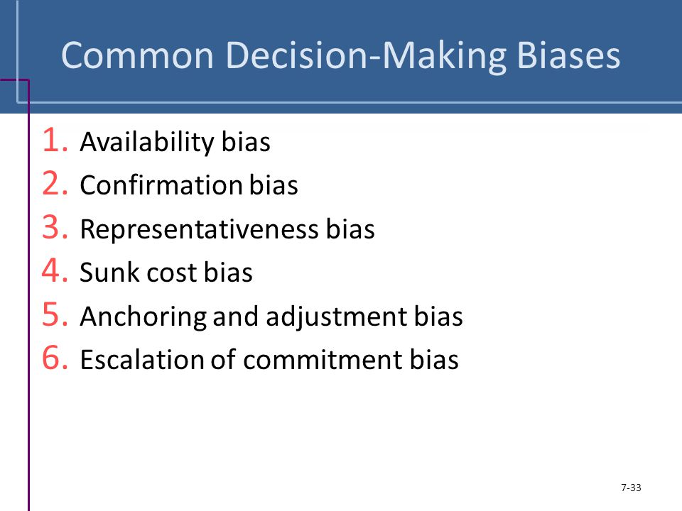 Common Decision-Making Biases