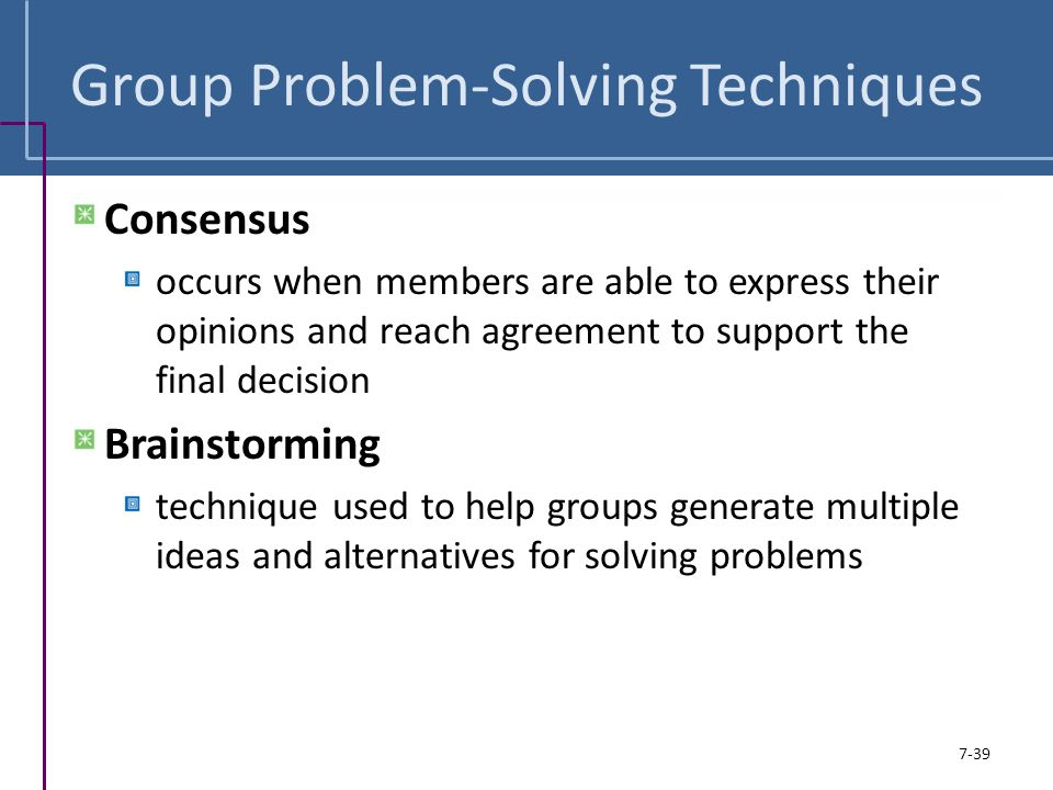 Group Problem-Solving Techniques