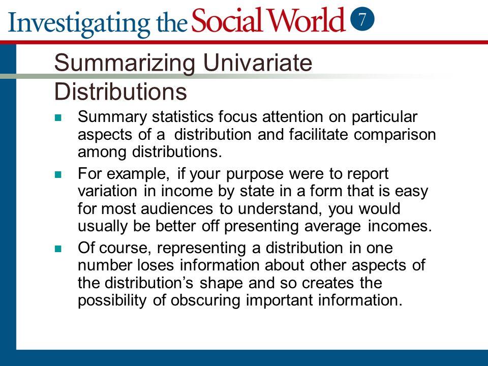 Summarizing Univariate Distributions