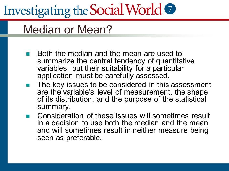 Median or Mean