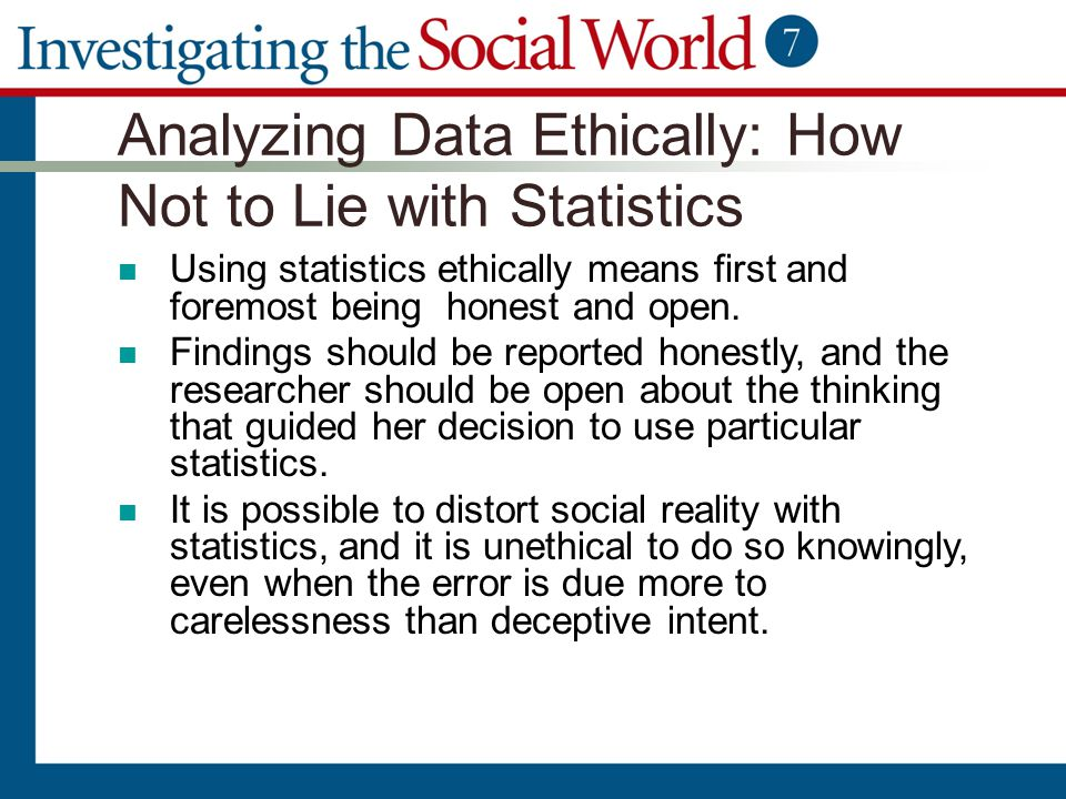 Analyzing Data Ethically: How Not to Lie with Statistics