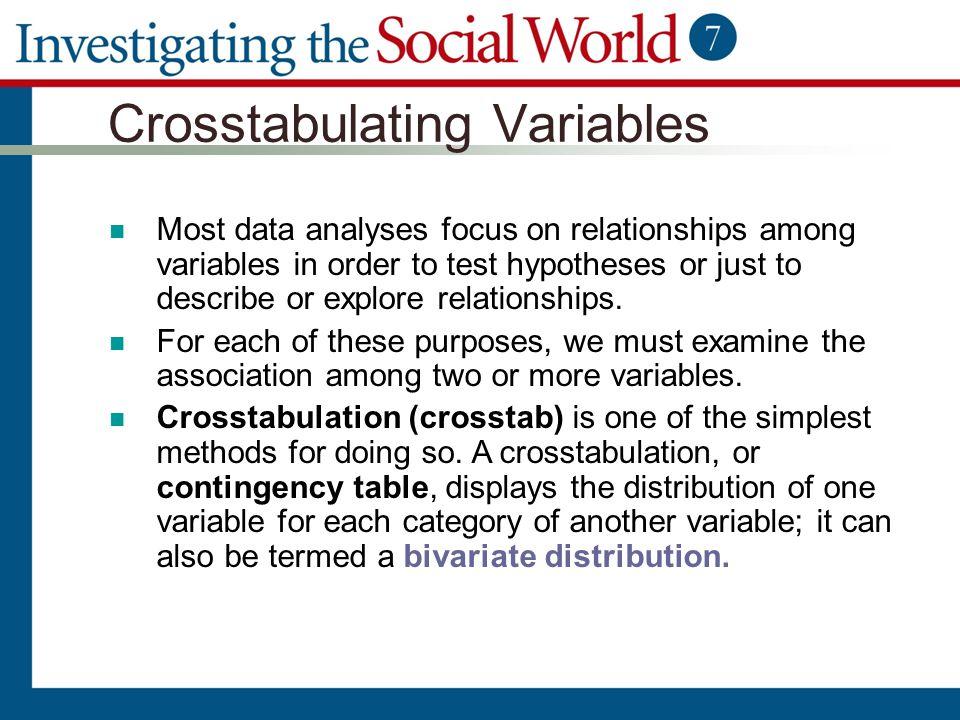 Crosstabulating Variables