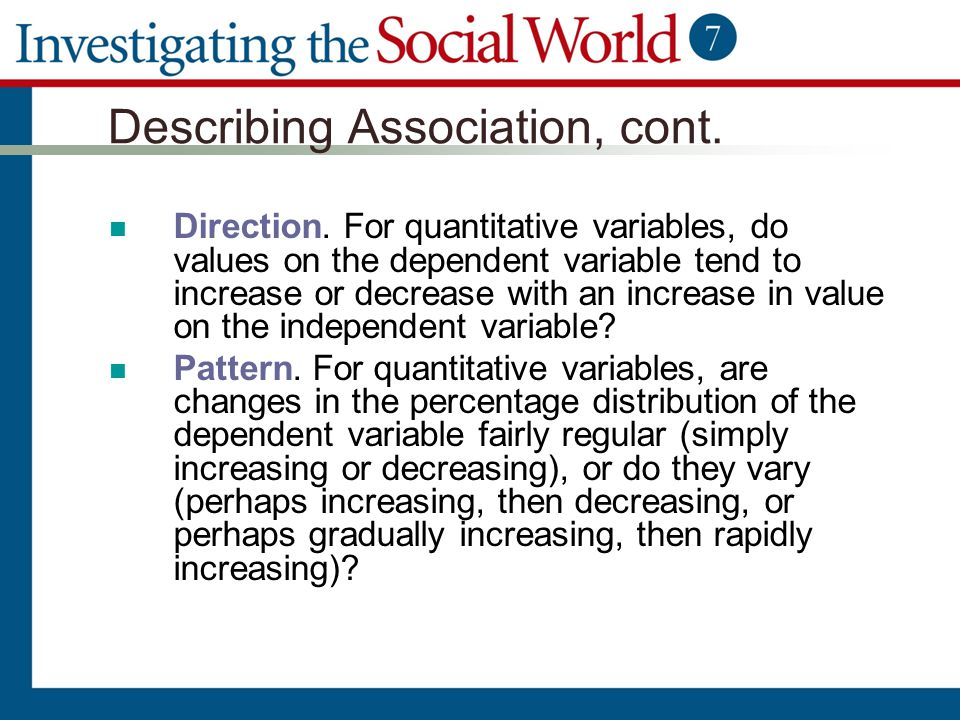 Describing Association, cont.