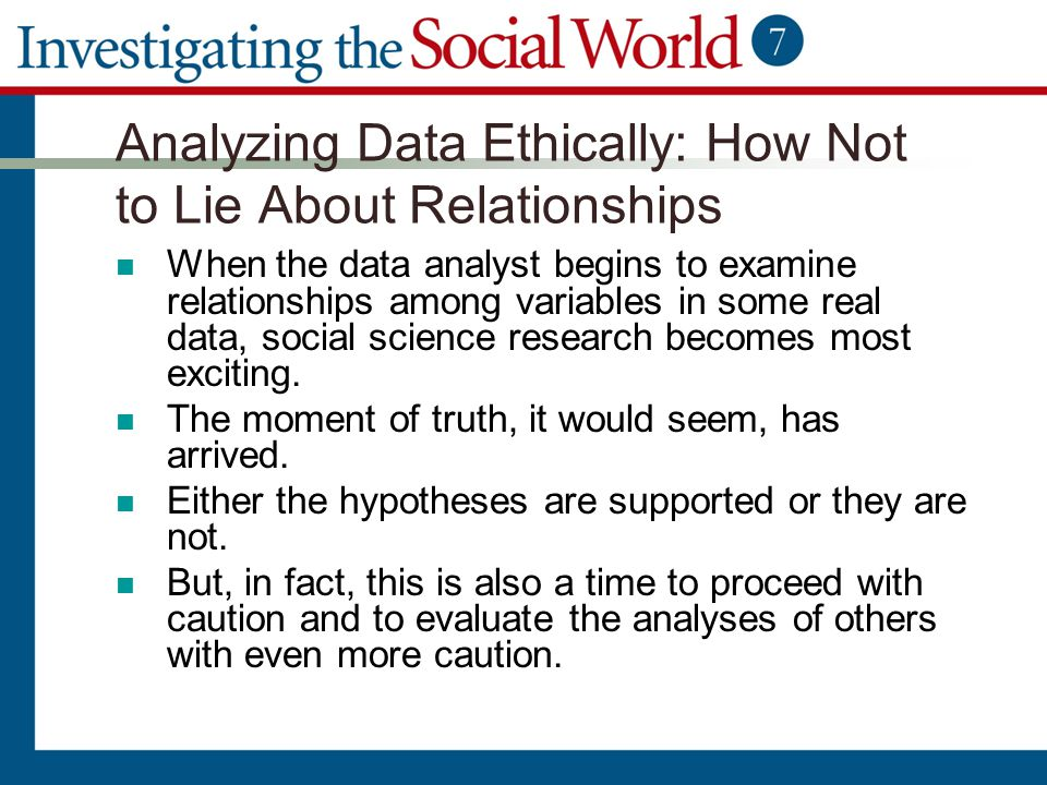 Analyzing Data Ethically: How Not to Lie About Relationships