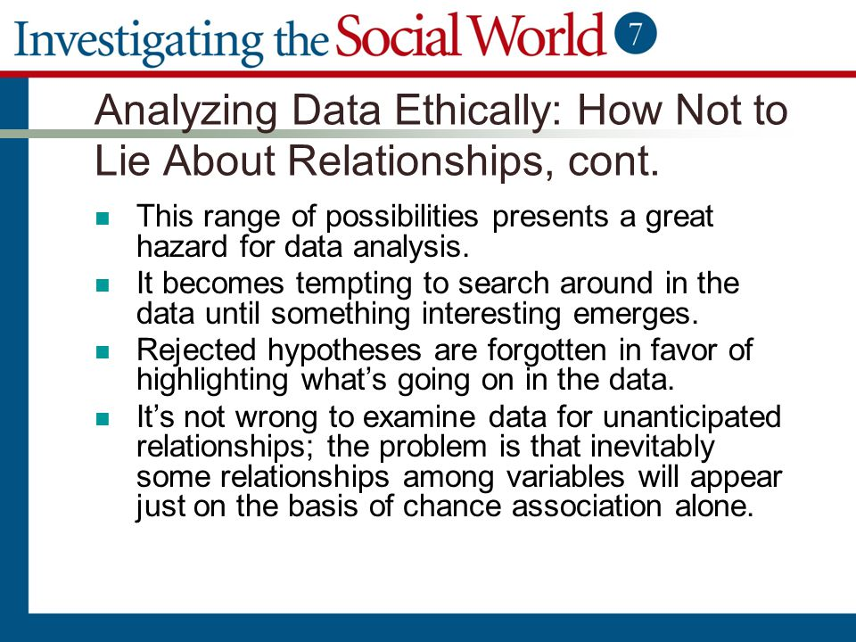 Analyzing Data Ethically: How Not to Lie About Relationships, cont.