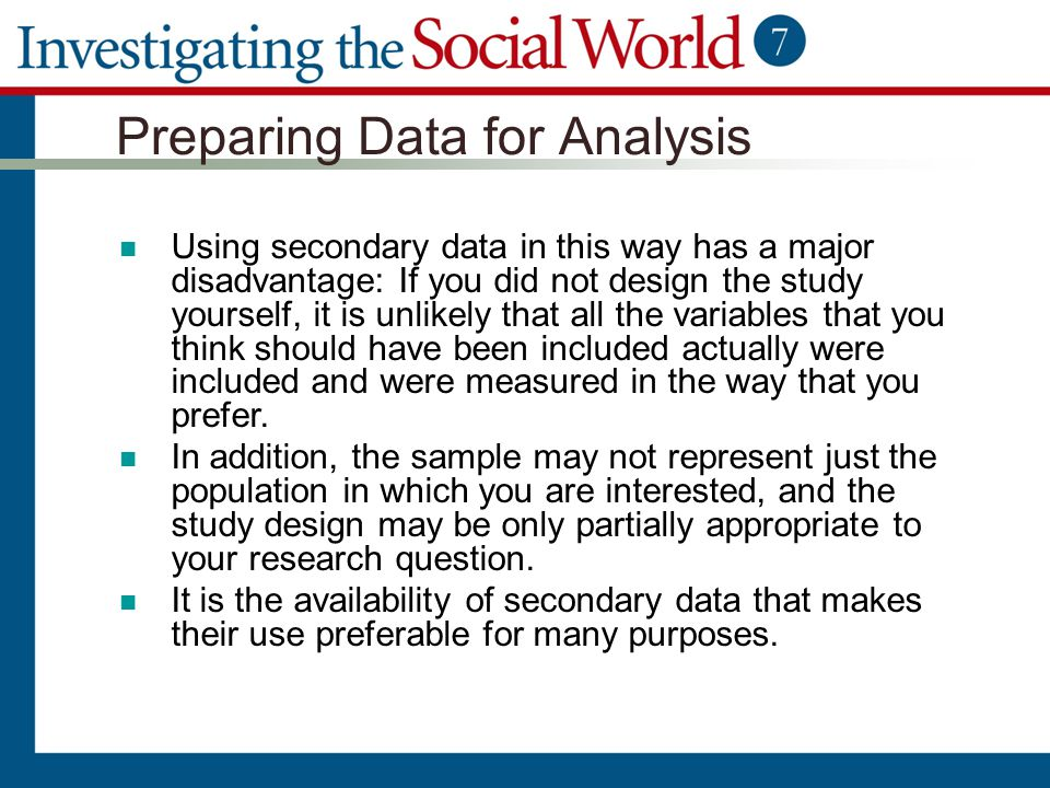 Preparing Data for Analysis
