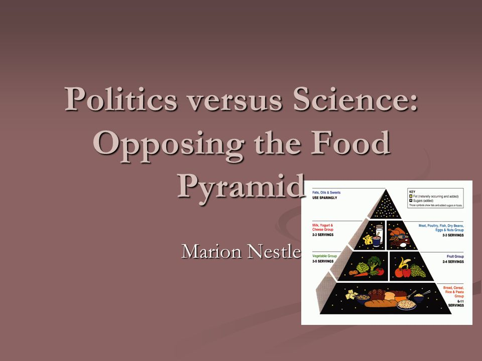 Politics versus Science: Opposing the Food Pyramid