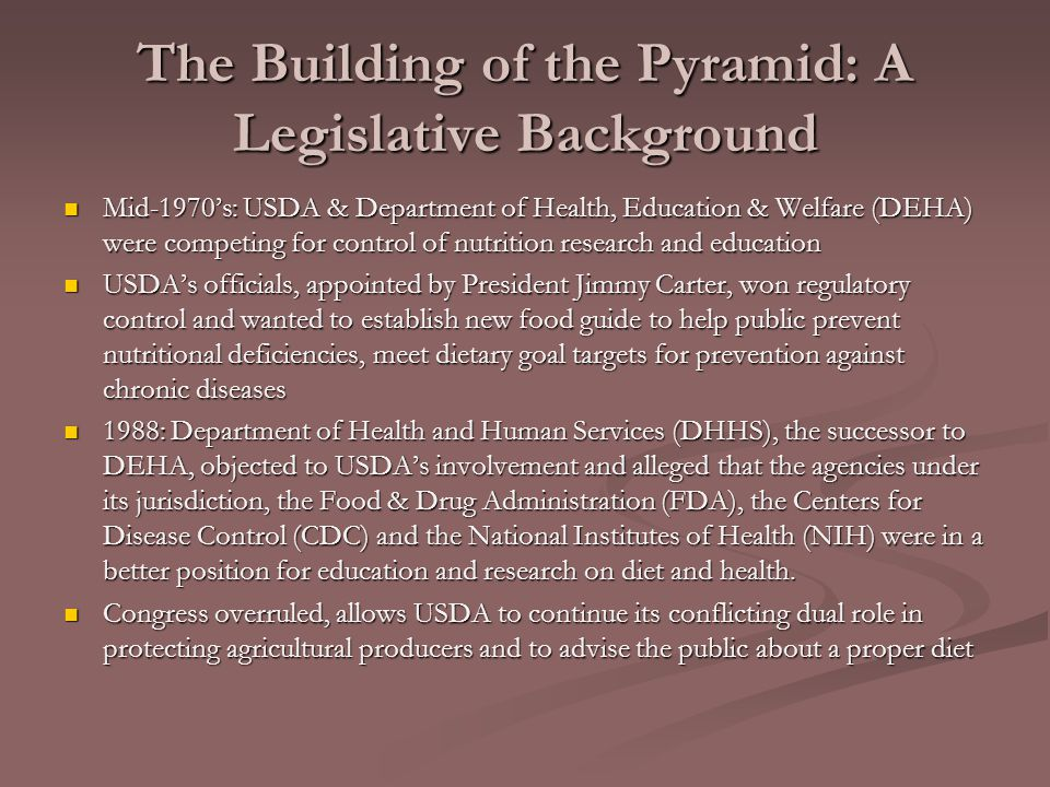 The Building of the Pyramid: A Legislative Background