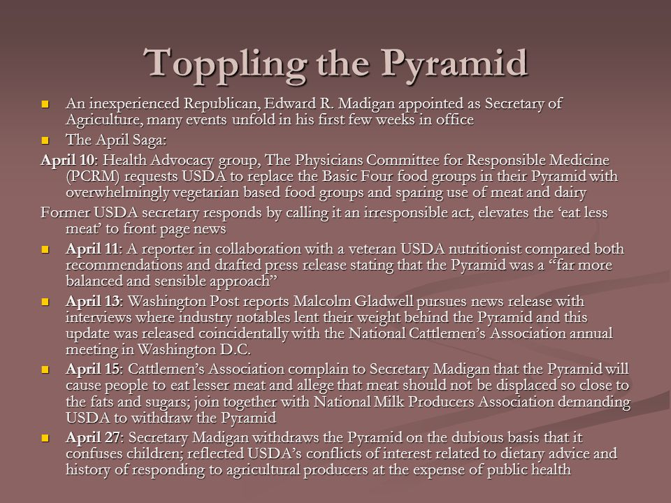 Toppling the Pyramid