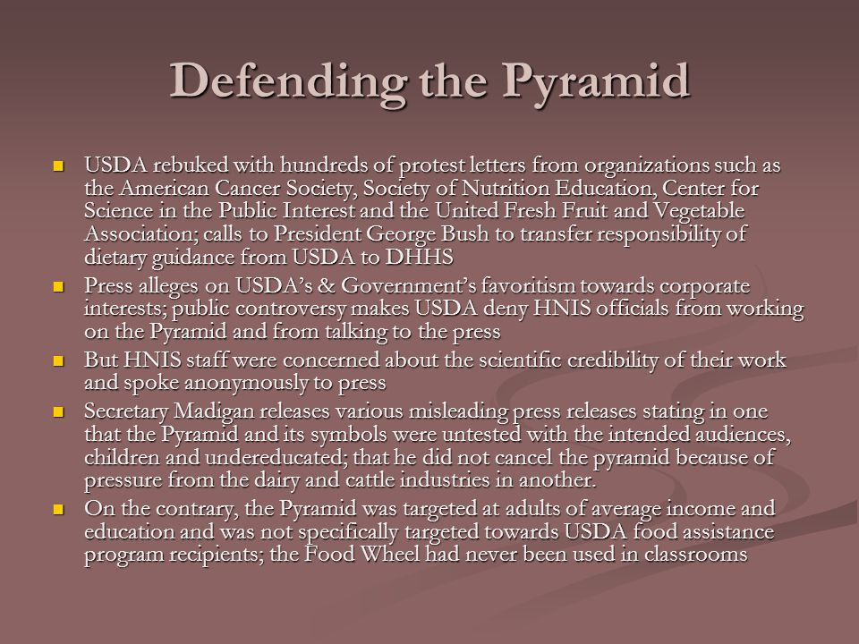 Defending the Pyramid