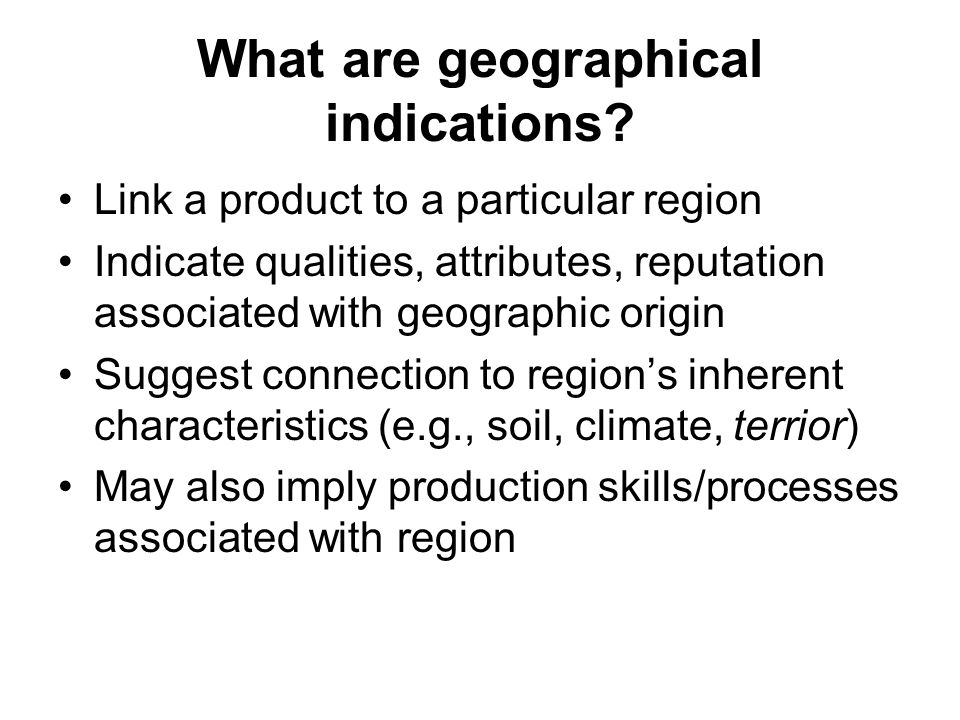 What are geographical indications