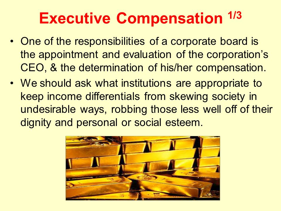 Executive Compensation 1/3