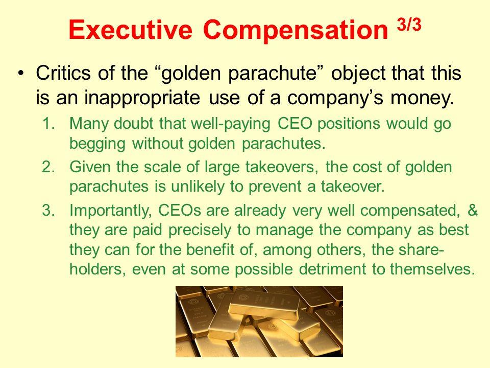Executive Compensation 3/3