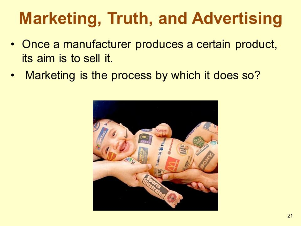Marketing, Truth, and Advertising